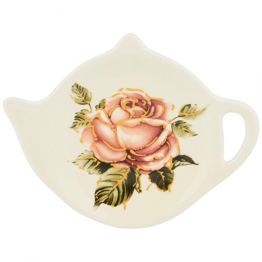 """Подставка под чайные пакетики """"Корейская роза"""" 12x9.5x1.5 см."""