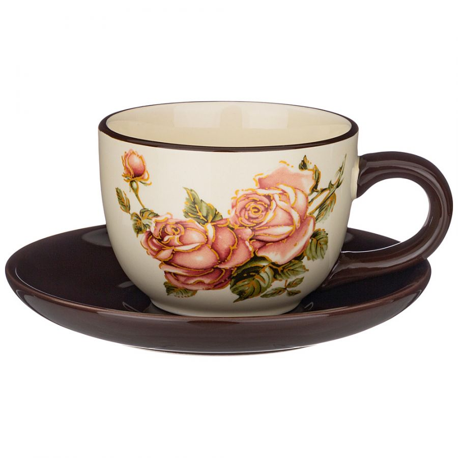 """Чайный набор на 1 персону """"Корейская Роза"""", 2 пр., 220 мл"""