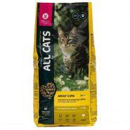 All Cats, Полнорационный корм для взрослых кошек, 13 кг с курицей
