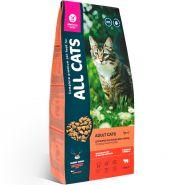 All Cats, Полнорационный корм для взрослых кошек, 13 кг говядина с овощами