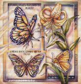 """""""Бабочки"""". Схема для вышивания крестиком."""
