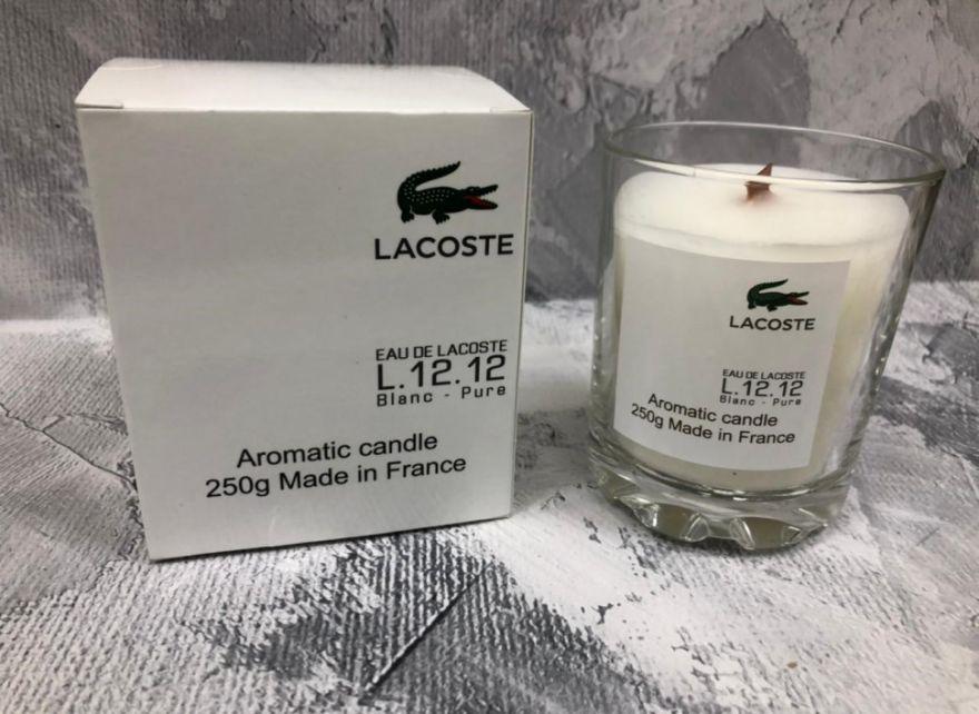 Парфюмерная свеча Lacoste Eau de L.12.12 Blanc 250 мл