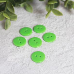 Набор пуговиц для творчества, Зеленые 12 мм., 10 шт.