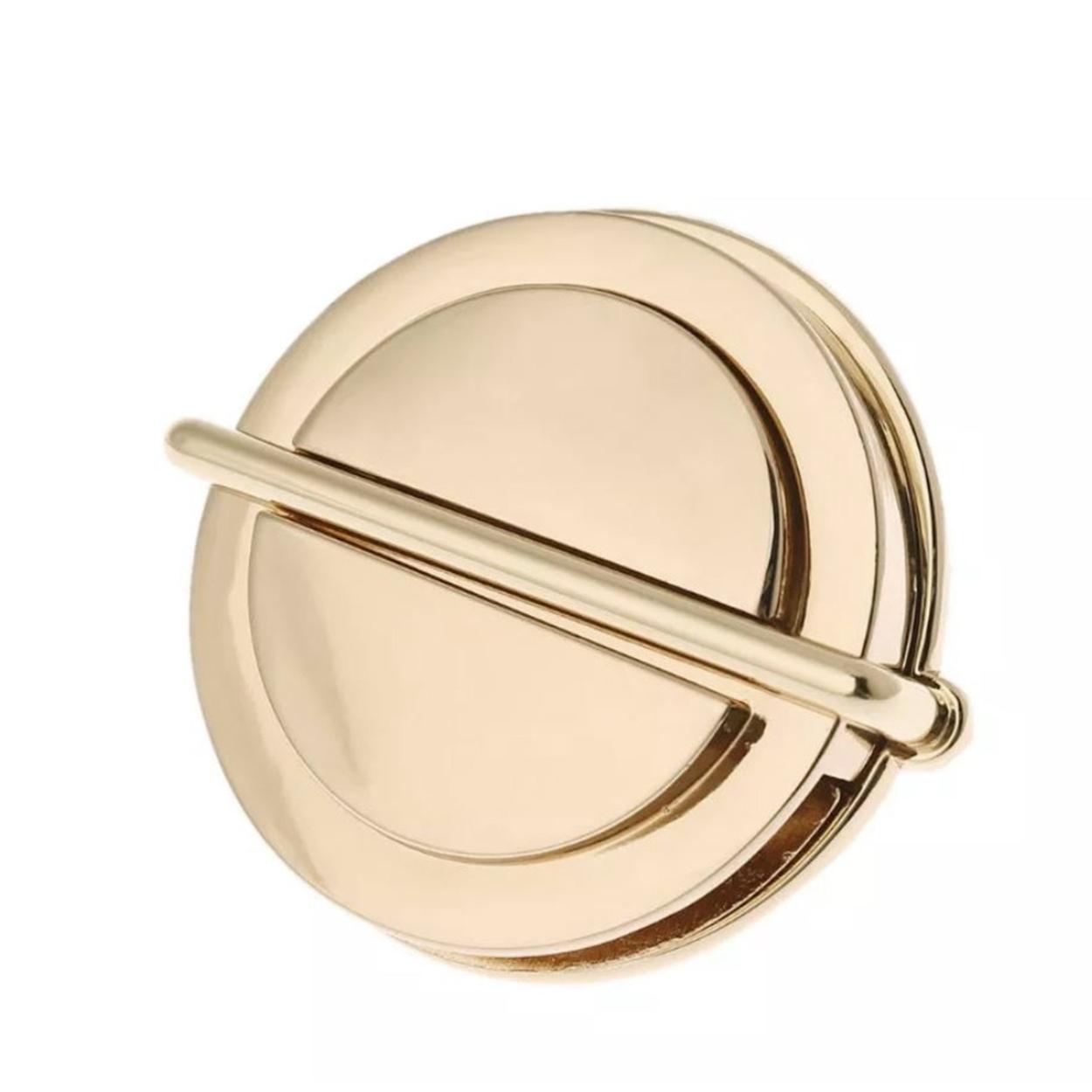 Замок-клапан на зажимах круг 30 мм золото