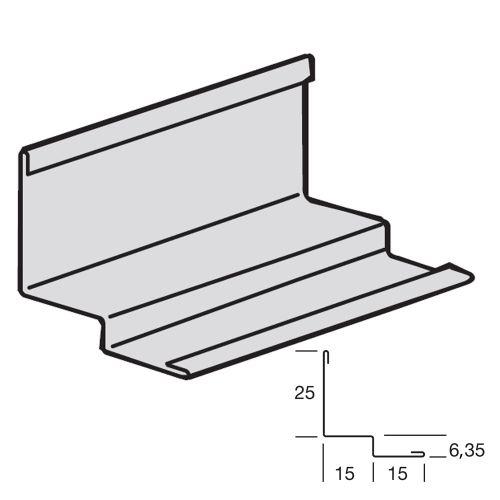 "Молдинг ""Ломаная линия"" 25x15x6,35x15x0,45 для панелей с кромкой Tegular"