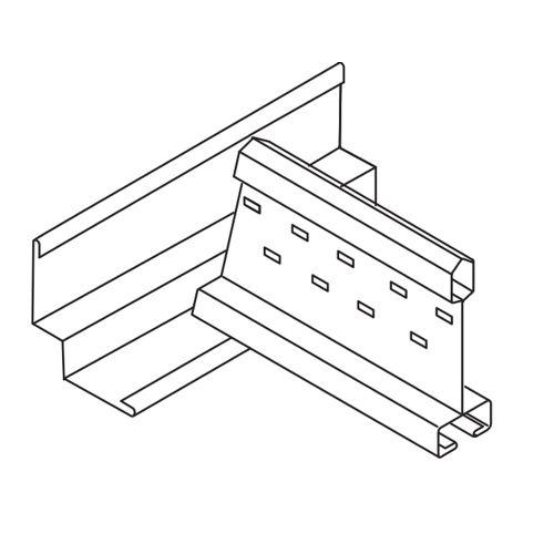"""Молдинг """"ломаная линия"""" 15x8x15x25, окрашенный, для панелей с кромкой MicroLook"""