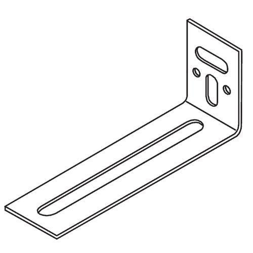 Кронштейн пристенный угловой 90х25х35 мм (в коробке 100 шт)