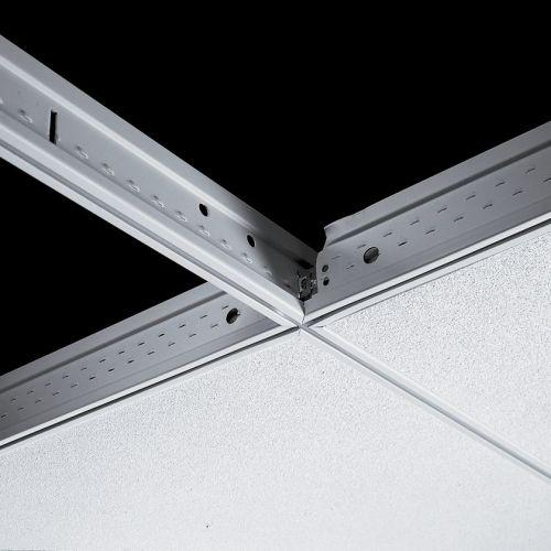 Поперечная рейка Silhouette 15XL 600x44 мм (каркас белый) с черной щелью 6 мм