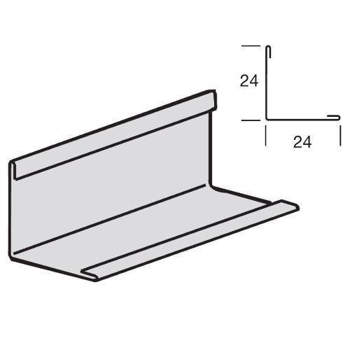 Угловой пристенный молдинг 24x24 для средних нагрузок, окрашенный