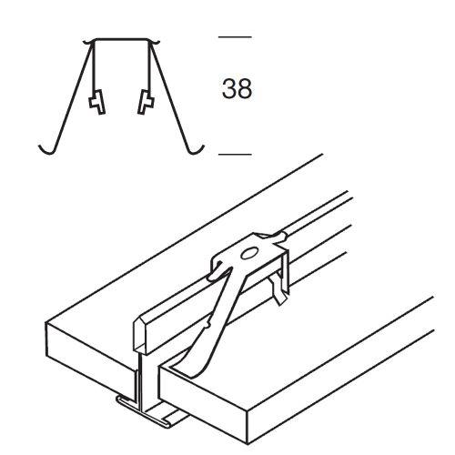 Фиксирующая клипса для плит толщиной 6-30мм (в коробке 500 шт.)