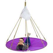 Подвесной мега гамак кровать для дачи фиолетовый