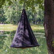 Подвесной гамак-кокон для дачи черный джинс