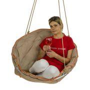 Подвесное кресло для дома и дачи цвет бежевый
