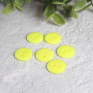 Набор пуговиц для творчества, Лимонные 12 мм., 10 шт.