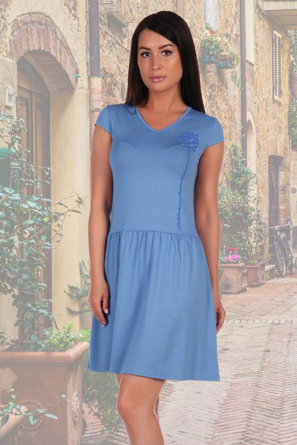 Платье 2462 [голубой]