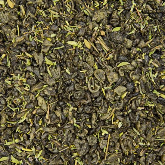 С чабрецом - китайский зеленый чай с натуральными  добавками
