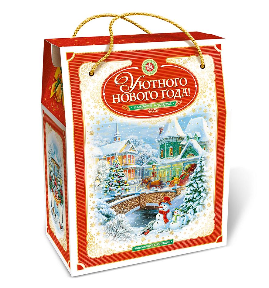Сумка уютного Нового года красная 2000 грамм
