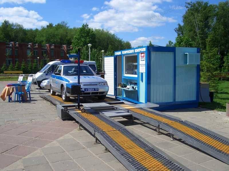 ЛТК-4Л-СП-16 мобильная линия для ТО легковых автомобилей с офисом