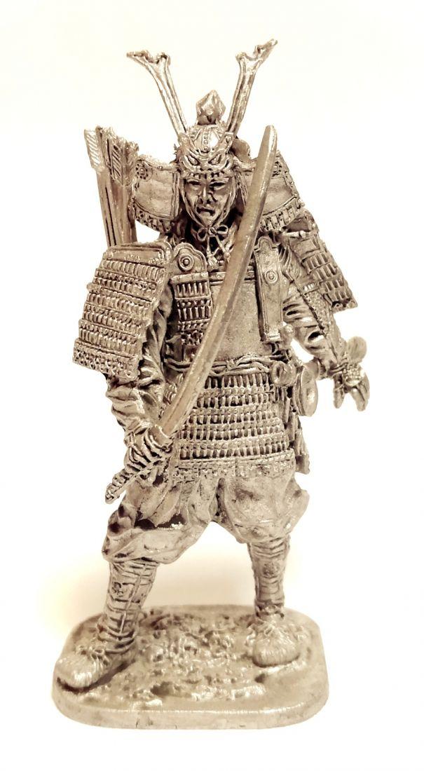 Фигурка Самурай в доспехах 12 в. олово