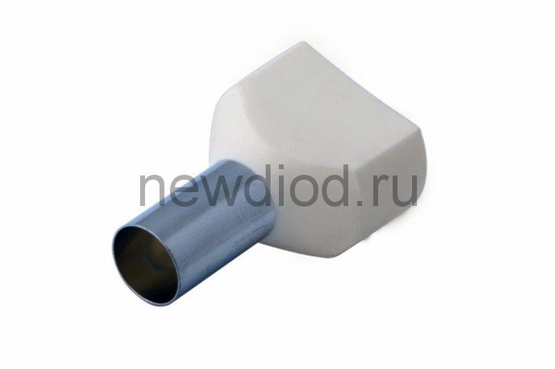 Наконечник штыревой втулочный изолированный F-14 мм 2х16 мм² (НШВи(2) 16-14/НГи2 16-14) слоновая кос