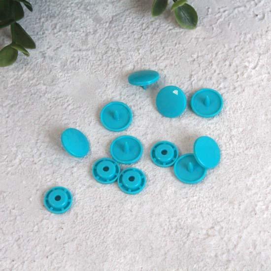 Кнопки пластиковые - Бирюзовые, 12 мм