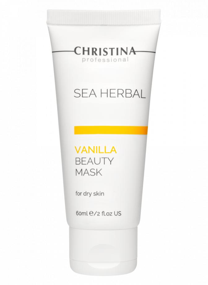 Маска красоты на основе морских трав для сухой кожи Ваниль для лица Christina (Кристина) 60 мл