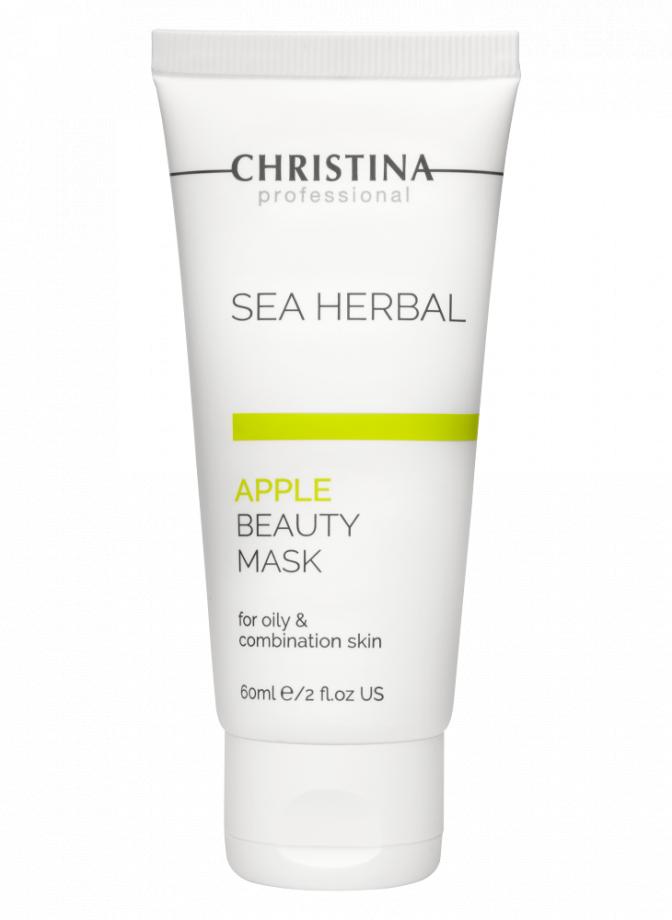 Маска красоты на основе морских трав  для жирной и комбинированной кожи Яблоко Christina (Кристина) 60 мл