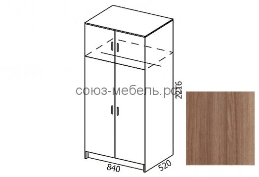 Шкаф двустворчатый без угла