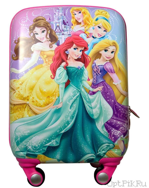 Чемодан детский принцессы 47x33x23 см
