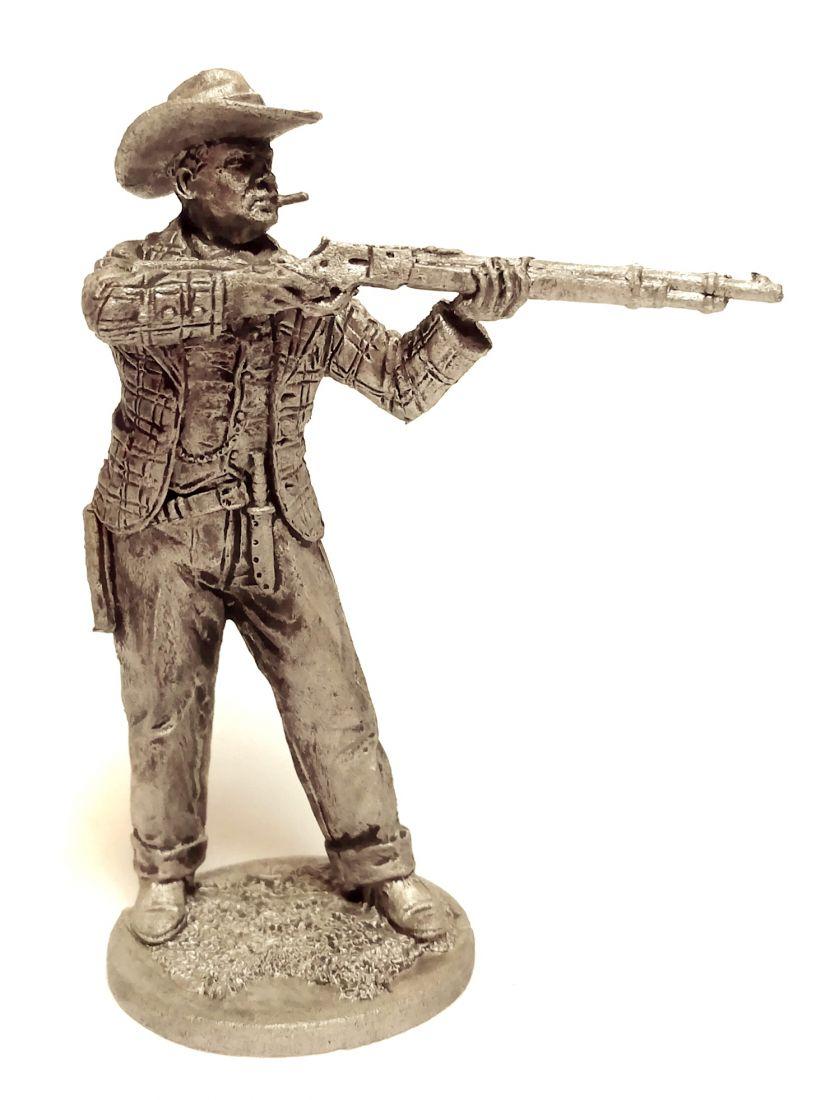 Фигурка Ковбой ружье на прицеле олово