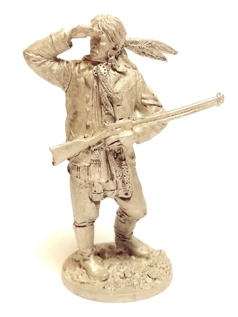 Фигурка Индеец с ружьем олово