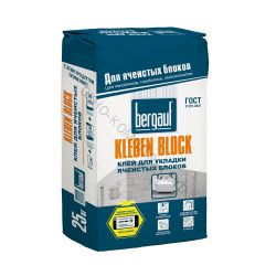 Кладочная смесь для ячеистых блоков Kleben Block Winter 25 кг Bergauf