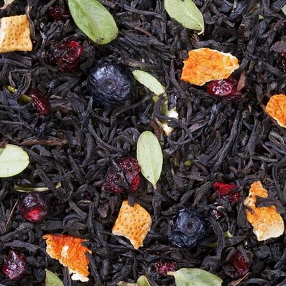 Зимняя вишня - черный чай с натуральными добавками