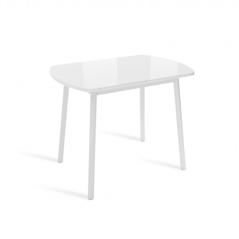 ВИНЕР Mini стол раздвижной со стеклом ЛИСТВИНГ