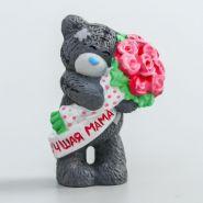 """Силиконовая форма """"Медвежонок Me to you с букетом розовых роз - Лучшая мама"""" 4,5 см"""