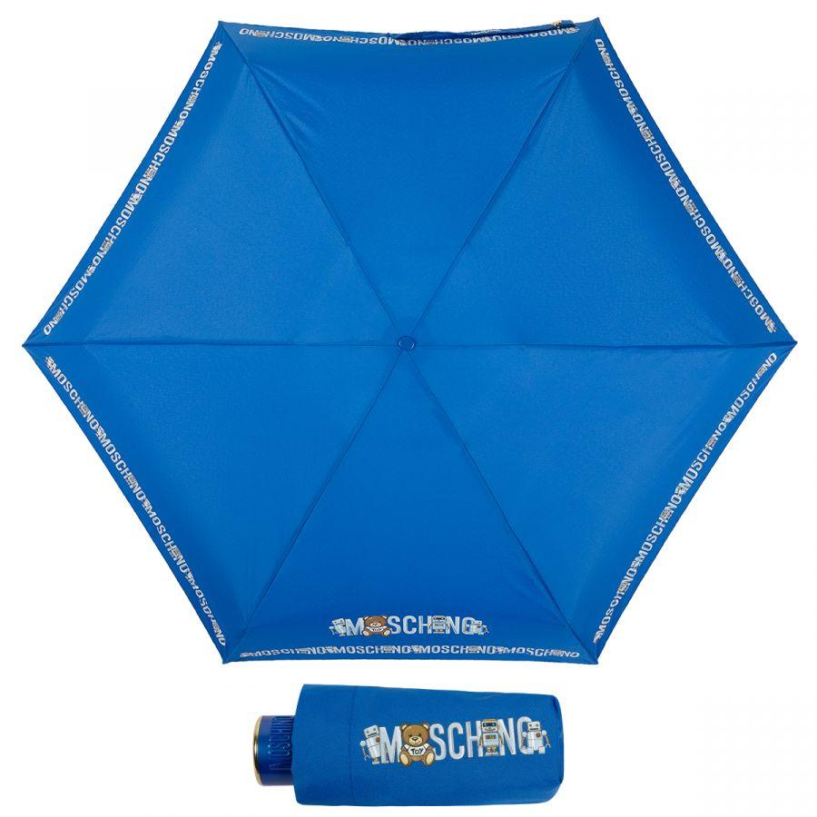 Зонт складной Moschino 8123-SuperminiF Toy Robot Blue