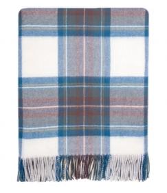 Теплая шаль  100 % стопроцентная шотландская овечья шерсть, расцветка (тартан) Королевский клан Стюарт Синий Вариант STEWART BLUE DRESS TARTAN LAMBSWOOL STOLE , плотность 6