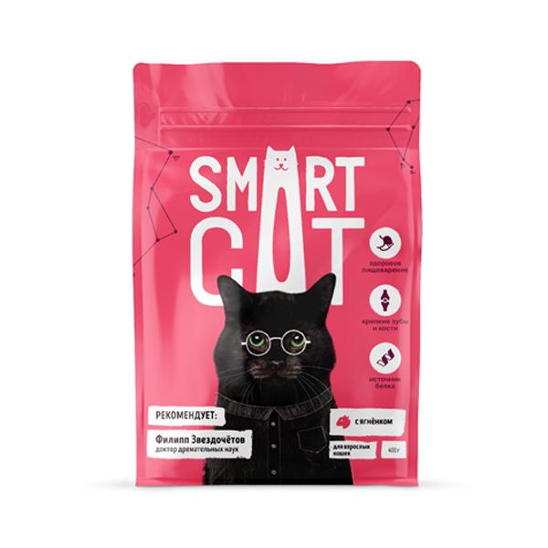 Сухой корм для кошек Smart Cat с ягненком 12 кг