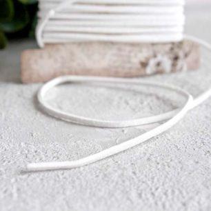 """Декоративный шнур """"Замша белая"""", 3 м. * 0,2 см."""