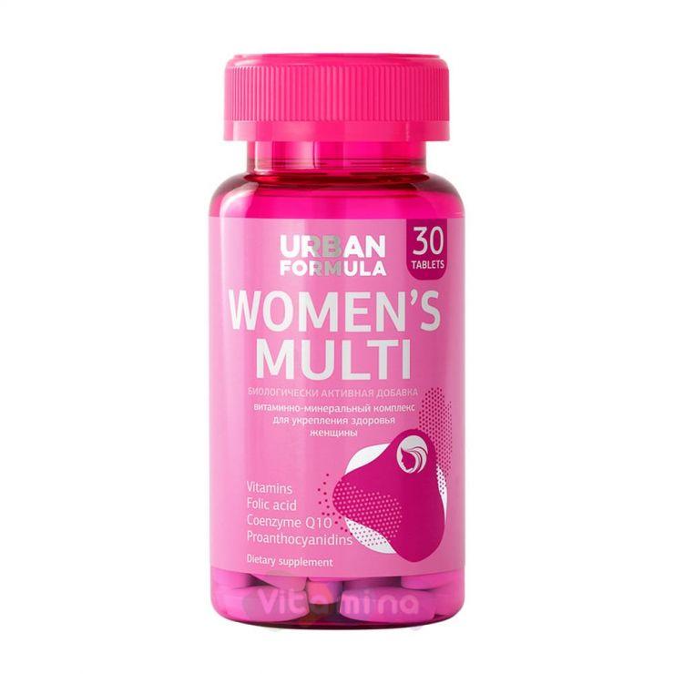 Урбан Формула Витаминно-минеральный комплекс для женщин от А до Zn, Women's Multi, 30 таб.