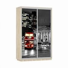 Шкаф-купе Экспресс Фото дуо Ночной Лондон Ш1600 x 600