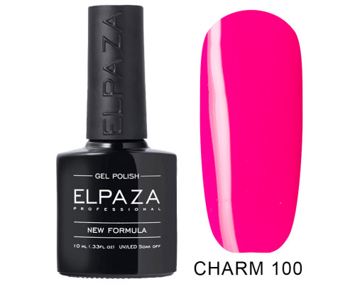ELPAZA ГЕЛЬ-ЛАК  Charm 100  Калифорния (Неоновый розовый) 10 мл