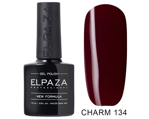 ELPAZA ГЕЛЬ-ЛАК  Charm 134  Сомелье (Темно-бордовый) 10  мл