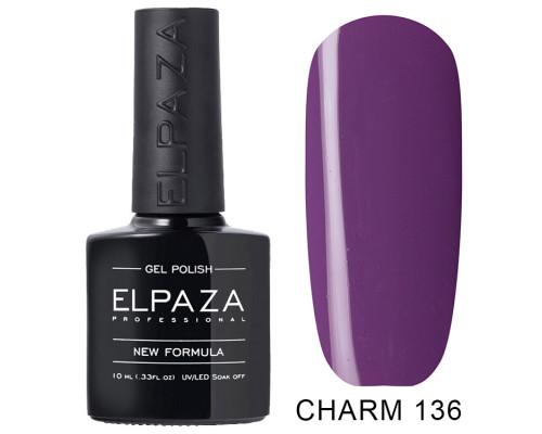 ELPAZA ГЕЛЬ-ЛАК  Charm 136 Виолетта (Фиолетово-сиреневый)  10  мл