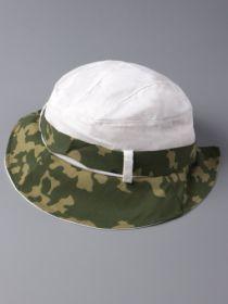 00-00008584  Панама трикотажная , Милитари , зеленая с белым