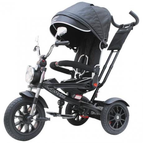 """Велосипед 3-х кол. Lexus trike Moto 12 и 10"""" черный 2021"""