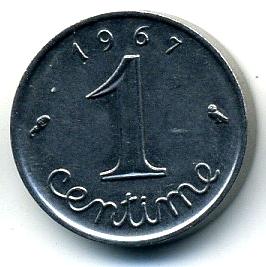 Франция 1 сантим 1967
