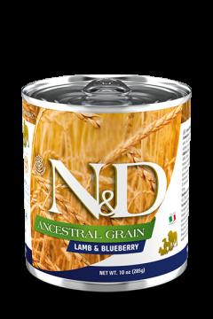 N&D DOG ANCESTRAL GRAIN LAMB&BLUEBERRY (Ягненок, черника для собак) 285г.
