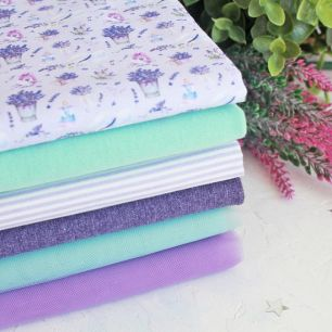 Набор тканей для пошива - Лавандовые мечты