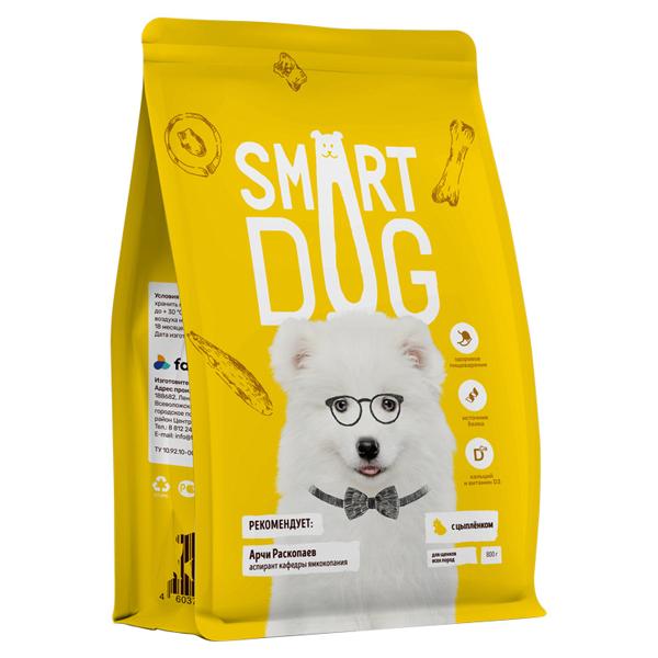 Сухой корм для щенков Smart Dog Puppy с цыпленком
